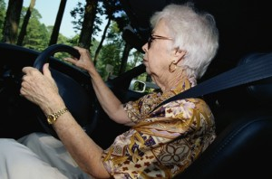 senior driving car